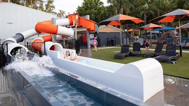 3/15Mildura Riverside Holiday Park, MilduraHeated waterslides. That's all you need to tell the kids. Mention the air-conditioned indoor playground, outdoor playground and shaded bouncing pillow and they'll be packing their bags. NRMA Mildura Riverside Holiday Park has family fun down pat, plus a stellar location on the banks of the Murray River.Picture: Visit Mildura