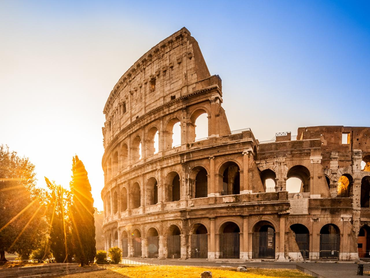 Colosseum at sunrise, Rome, Italy