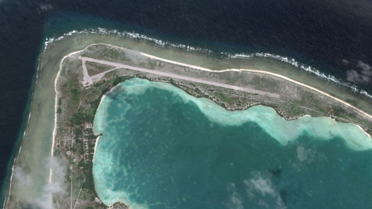 Google Earth view of Kiribiti shows a lot of work may already have been done on the coral atoll.