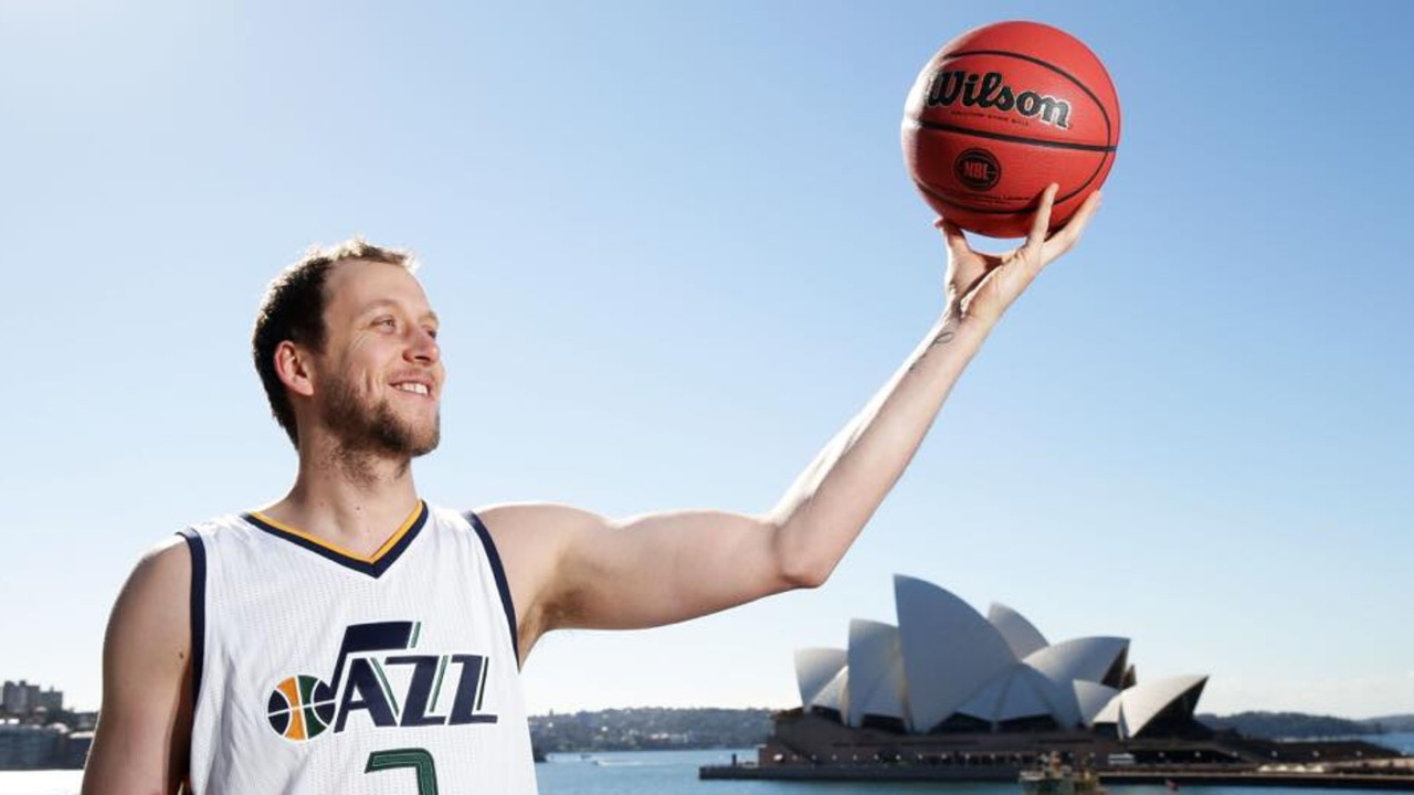Joe Ingles is ready to star for the Utah Jazz when the NBA restarts this week following a three-month hiatus. Picture: News Corp