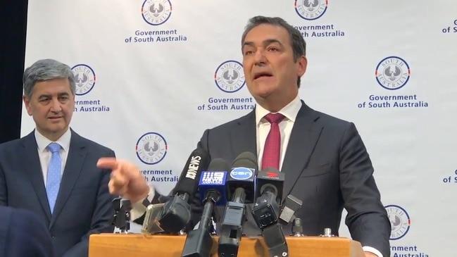 SA Premier Steven Marshall on Tuesday's budget