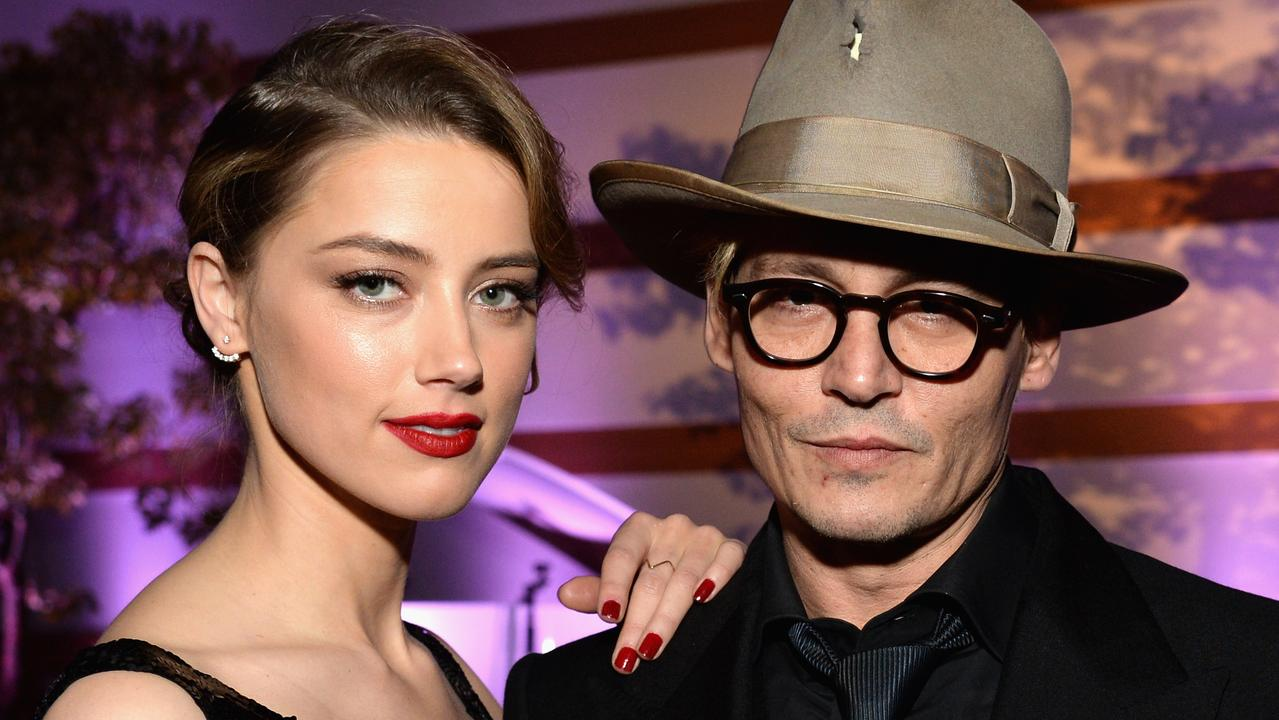 Heard and Depp in LA in 2014. Picture: Michael Kovac/Getty Images for Art of Elysium