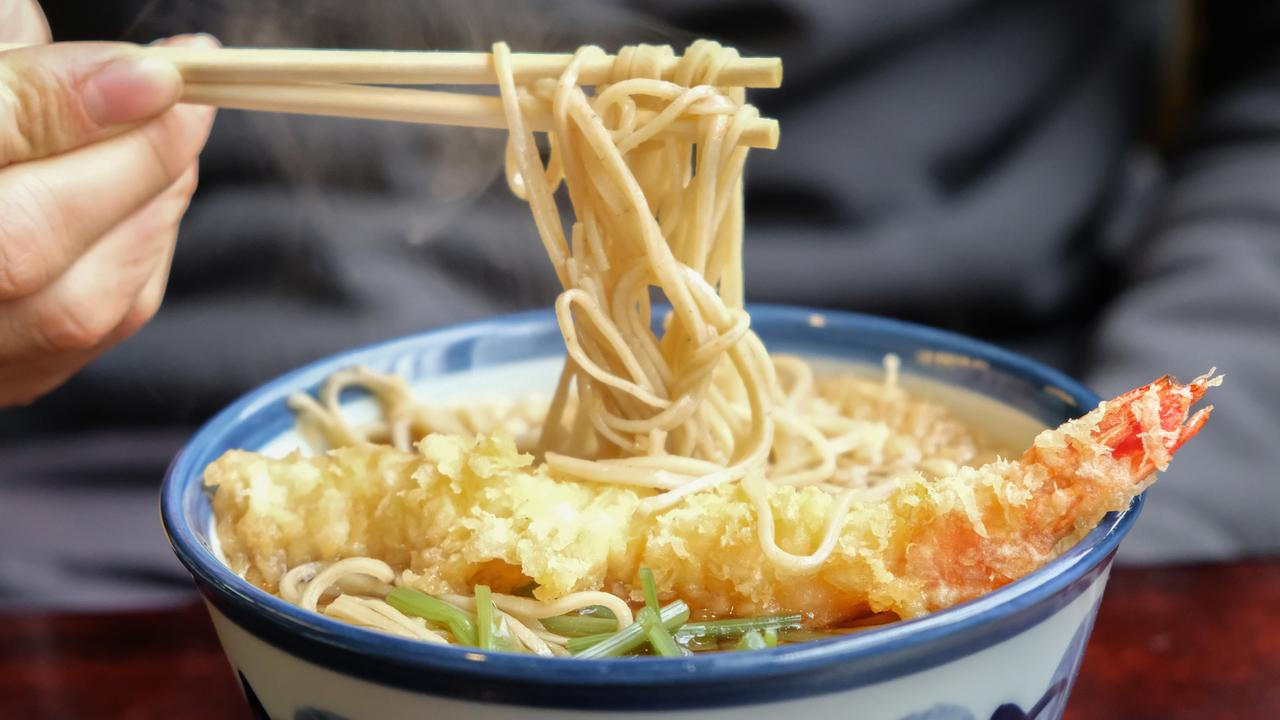 Commuters willing to travel outside peak hours are eligible for a free noodle bowl in Tokyo.