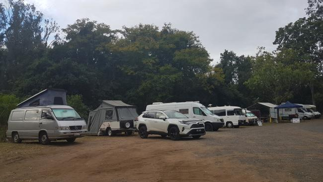 This campsite, at Gin Gin, had a Driver Reviver site and a sausage sizzle. Picture: Kirrily Schwarz