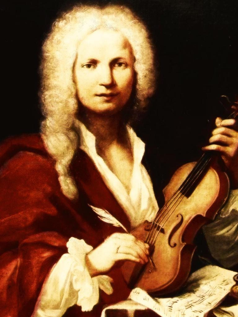 Portrait of the composer Antonio Vivaldi (1723), by Francois Morellon La Cave.