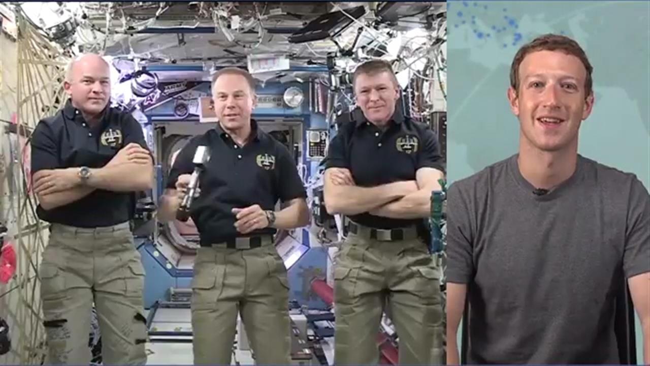 Mark Zuckerberg Interviews ISS Astronauts