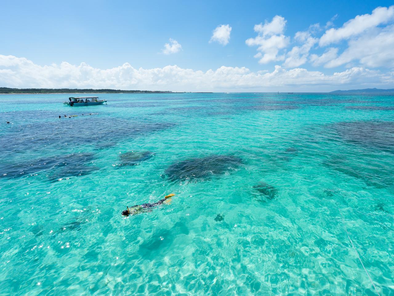 Idyllic beach in Okinawa, Japan