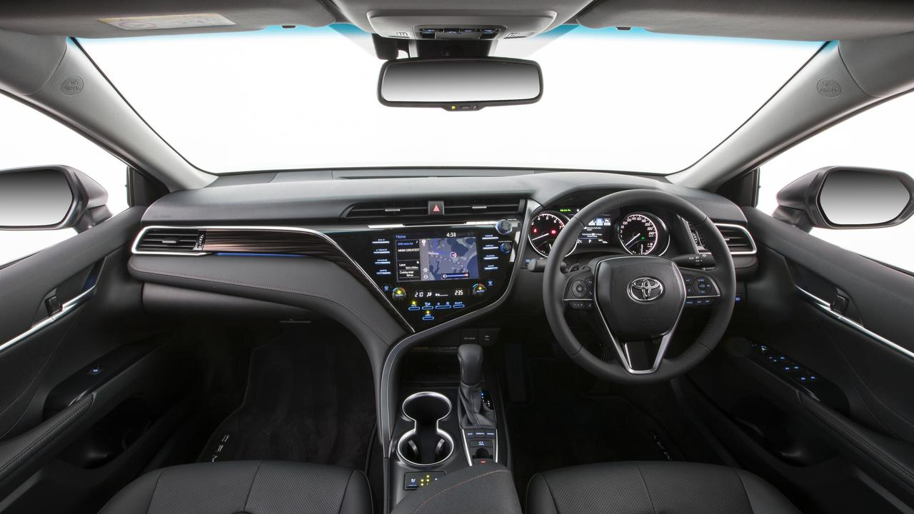 The SL has a plush interior.