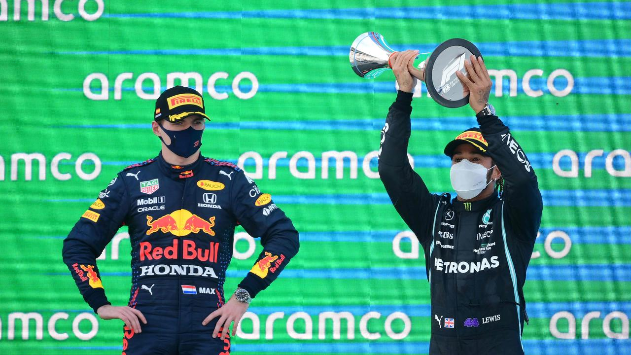 Lewis Hamilton claimed his fifth successive Spanish Grand Prix on Sunday ahead of Red Bull's Max Verstappen.