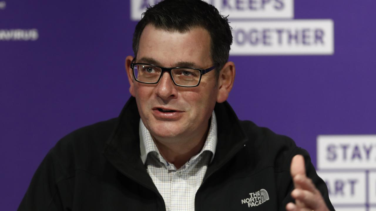 Premier Daniel Andrews said the border closure would be enforced by NSW. Picture: Getty Images