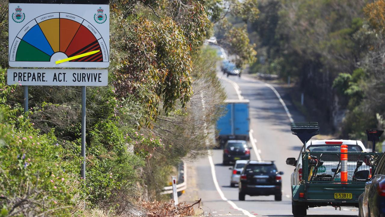 The seemingly remote Wakehurst Parkway, one of the only ways in and out of the northern beaches. Pictures: John Grainger