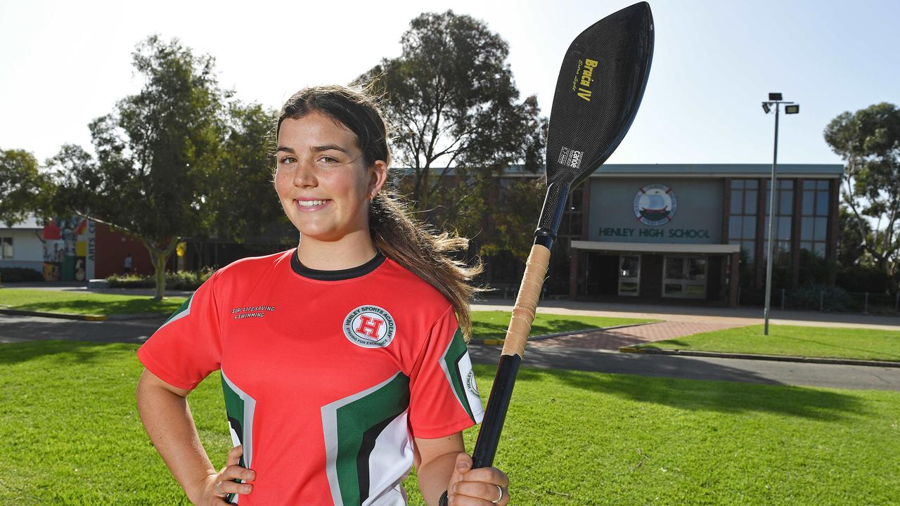 Henley High kayaker Demi Bates. Picture: Tom Huntley