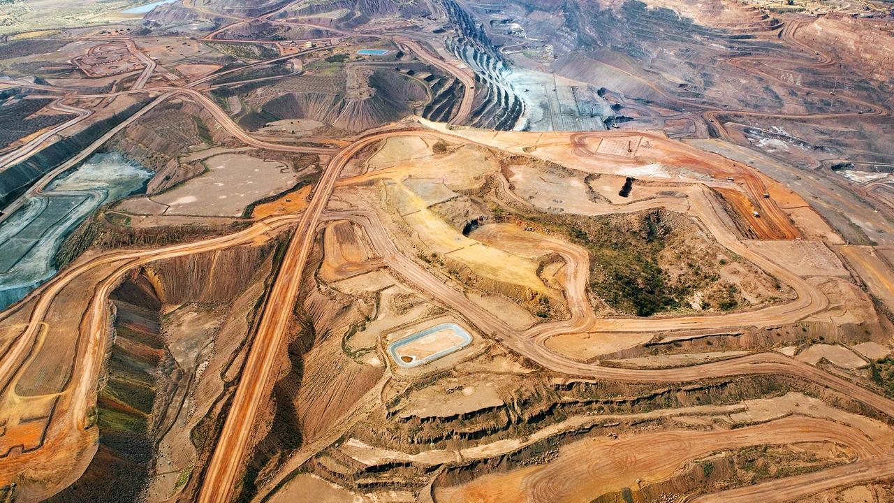 Mt Whaleback iron ore mine owned by BHP Billiton, which rose by 3.2 per cent on Monday.