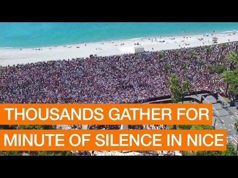FRANCE: Thousands Gather for Minute of Silence in Nice Package July 18