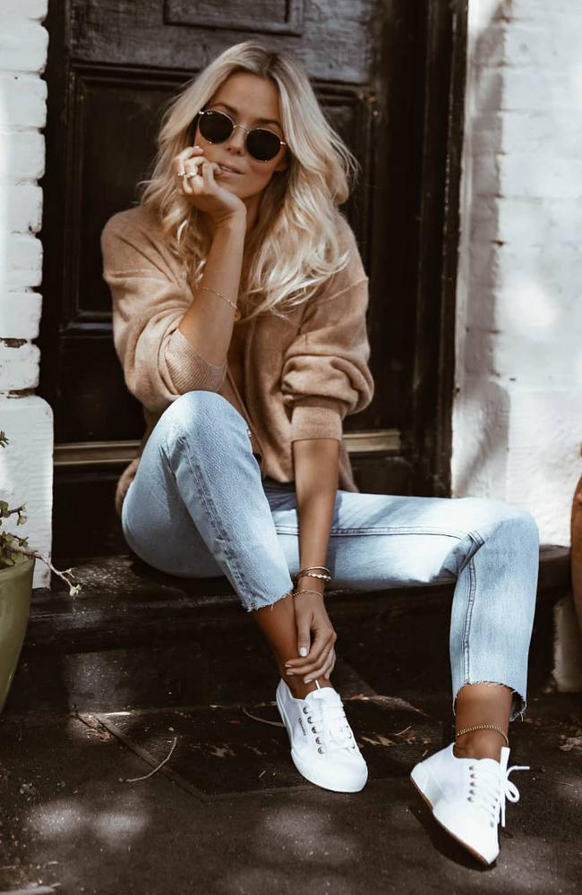 Australia's bestselling shoe for 2019 has been revealed by the Iconic – and it's a humble pair of white sneakers. Picture: Instagram / Superga
