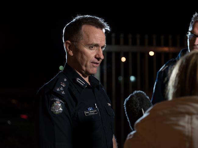 Commander Dean Stevenson at the Narre Warren police station. Picture: Christopher Chan