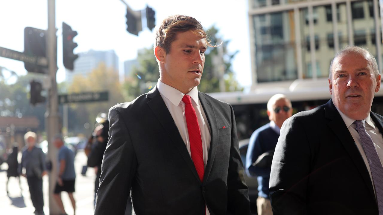 St George Illawarra Dragons star Jack de Belin's sexual assault trial has continued on Monday. Picture: NCA NewsWire / Christian Gilles