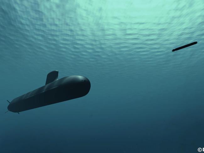 The 4000-tonne DCNS Shortfin Barracuda. Picture: DCNS