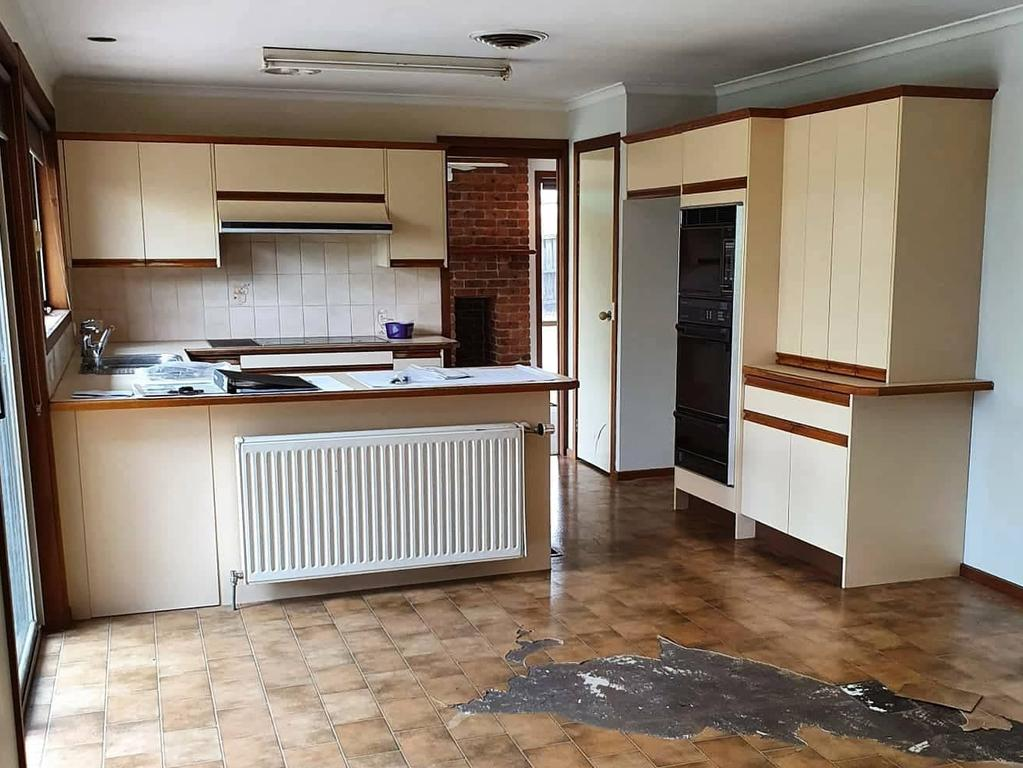 The kitchen prior to the major revamp. Picture: Supplied.