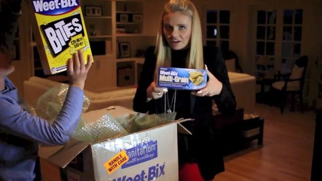 Alli Simpson and her brother get excited about Weet-Bix