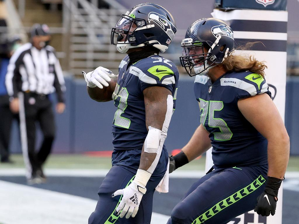 Chad Wheeler (right) is no longer with the Seahawks.