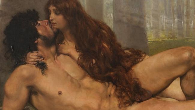 The First Kiss of Adam and Eve by Salvador Viniegra.