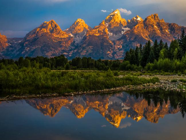 GRAND TETON NP, WYOMINGFew mountain ranges create a more compelling vista than the Tetons in northwestern Wyoming, about 48km south of Yellowstone National Park. Spend at least a couple of nights in Grand Teton National Park, soaking up views; scouting for moose, black bears, grizzly bears, and other wildlife; and hiking the trails. Picture: visitjacksonhole.com
