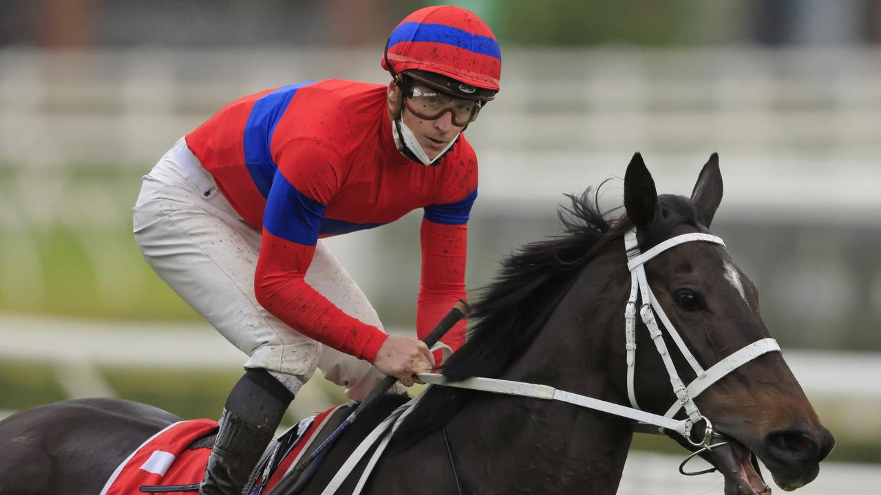 James McDonald returns to scale after winning the Group 1 George Main Stakes at Randwick. Picture: Getty