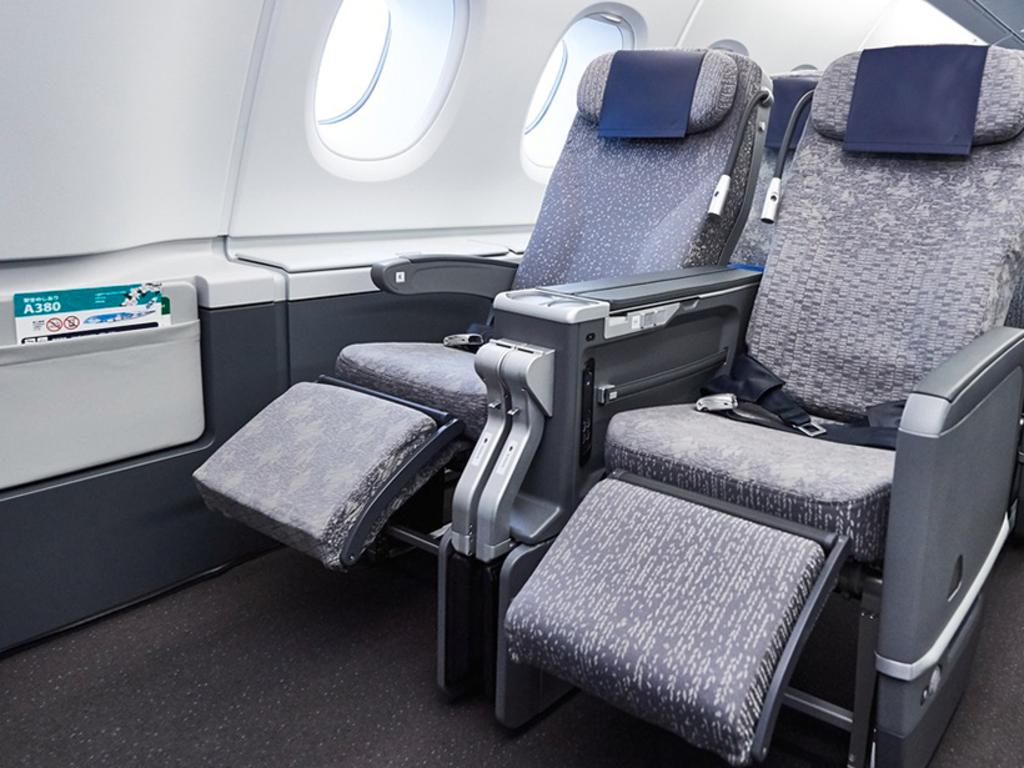 The Premium Economy seatts on board All Nippon Airways flights. Picture: All Nippon Airways