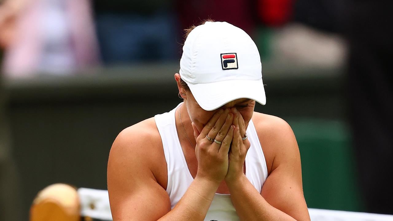 Barty was in tears after match point.