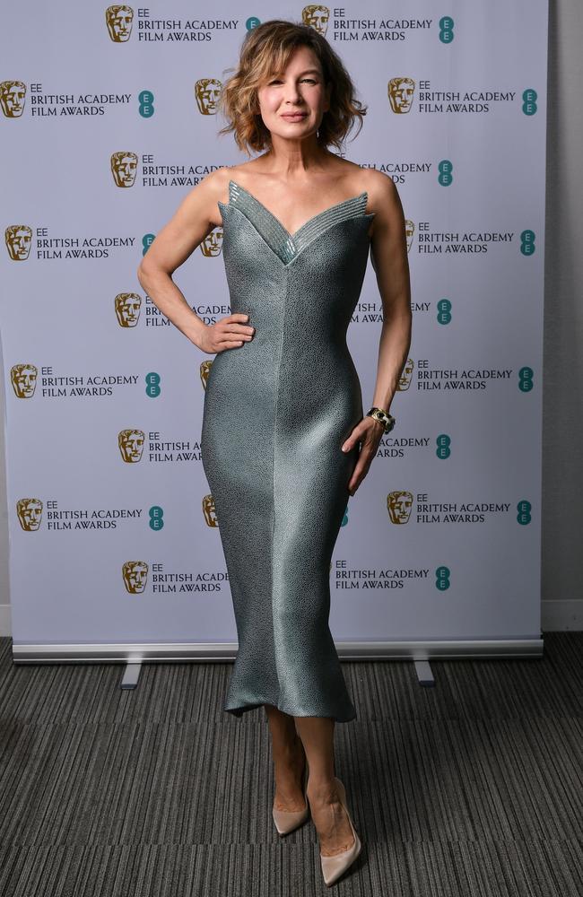Renée Zellweger wearing Armani. Picture: Rob Latour/Shutterstock for BAFTA