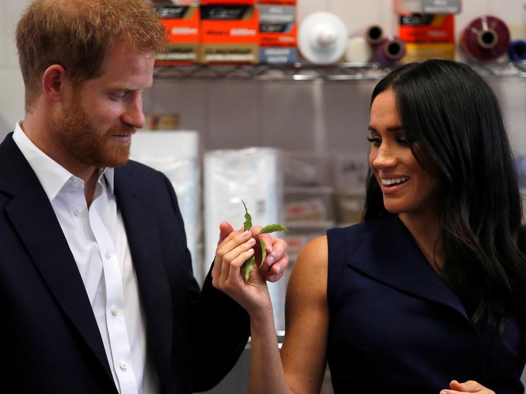 The couple learning about Australian natives. Picture: Phil Noble/Getty Images