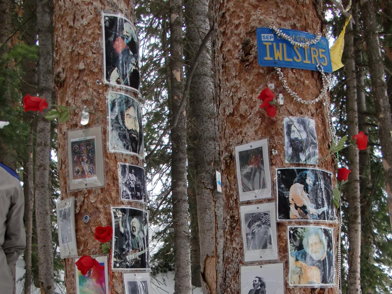 Sunday Escape .. A shrine to Grateful Dead guitarist Jerry Garcia in Aspen, Colorado. Please credit David Wood. To go with story by Angela Saurine