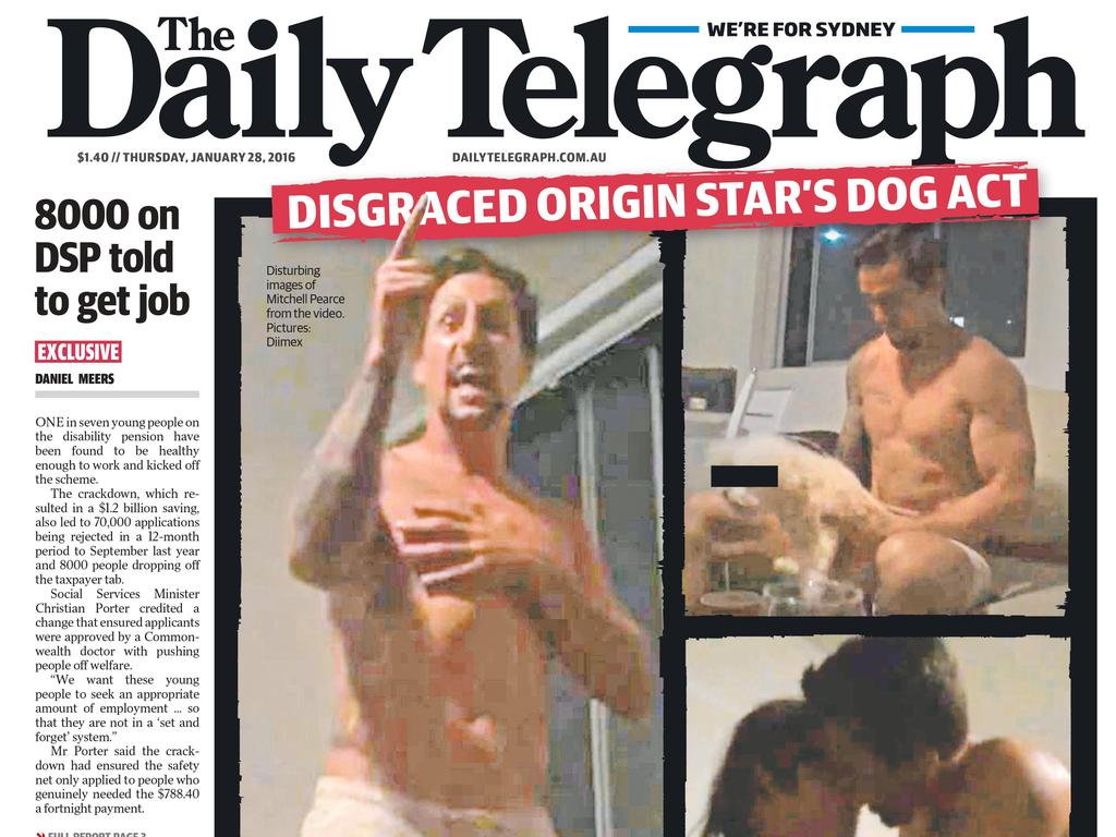 Pearce was making the front page for all the wrong reasons.