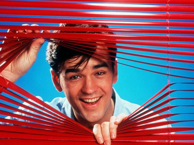 Tim Ferguson hosting the TV show Don't Forget Your Toothbrush in the mid-1990s.