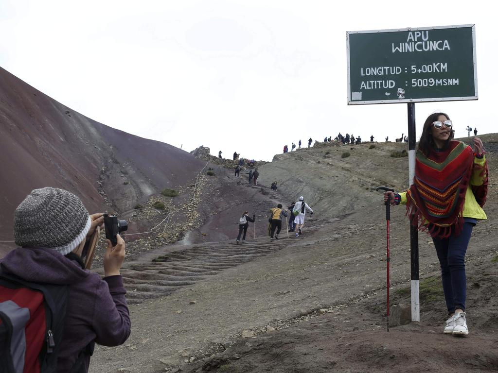 Backpackers are flocking to the dazzling site. Picture: AP/Martin Mejia