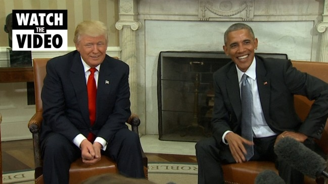Obama welcomes president-elect Trump to the White House: 2016