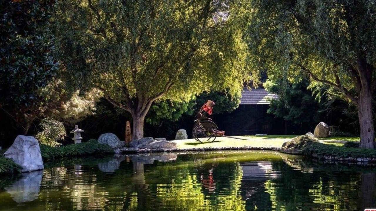 The property comes complete with a koi pond. Picture: Realtor