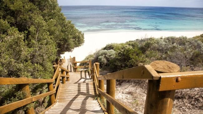 The Margaret River region is renowned for its beaches, including Injidup.