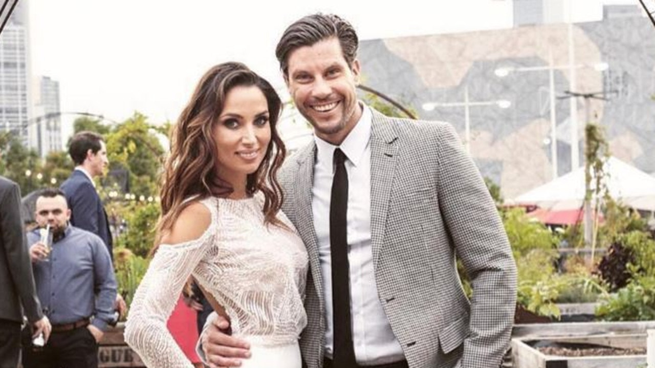 Instagram image from the engagement party of Snezana Markoski and Sam Wood at Pop Up Patch in Melbourne. Picture: Instagram