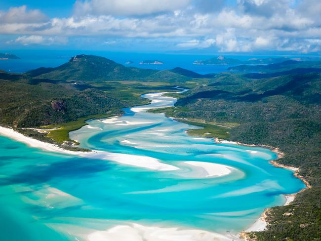 "WHITSUNDAYS, AUSTRALIA ""This place is so pure! It's only accessible by boat, so we slept on the boat in a neighboring bay in order to get here in the morning."" – @johandroneadventures"