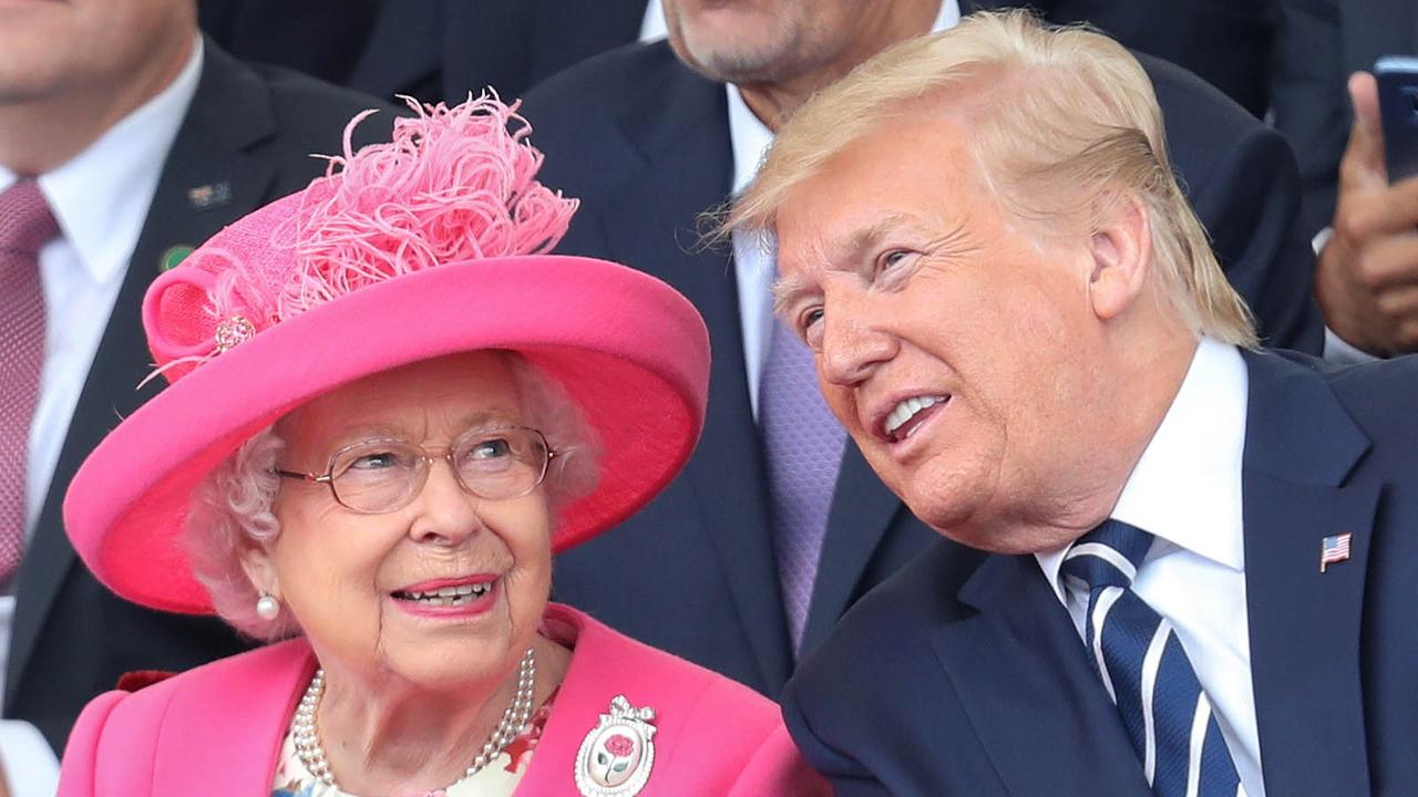 Donald Trump and Queen Elizabeth in 2019. Picture: Chris Jackson-WPA Pool/Getty Images