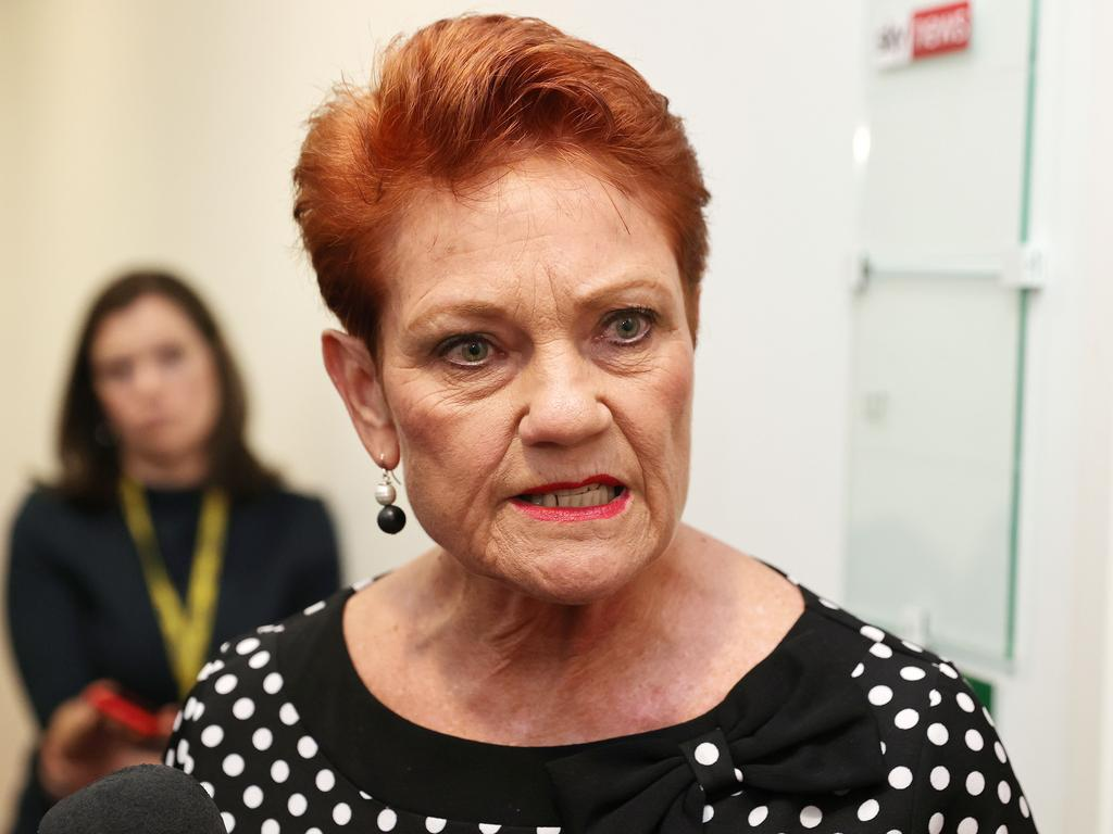 Pauline Hanson has demanded Scott Morrison apologise to Christine Holgate. Picture: NCA NewsWire / Gary Ramage