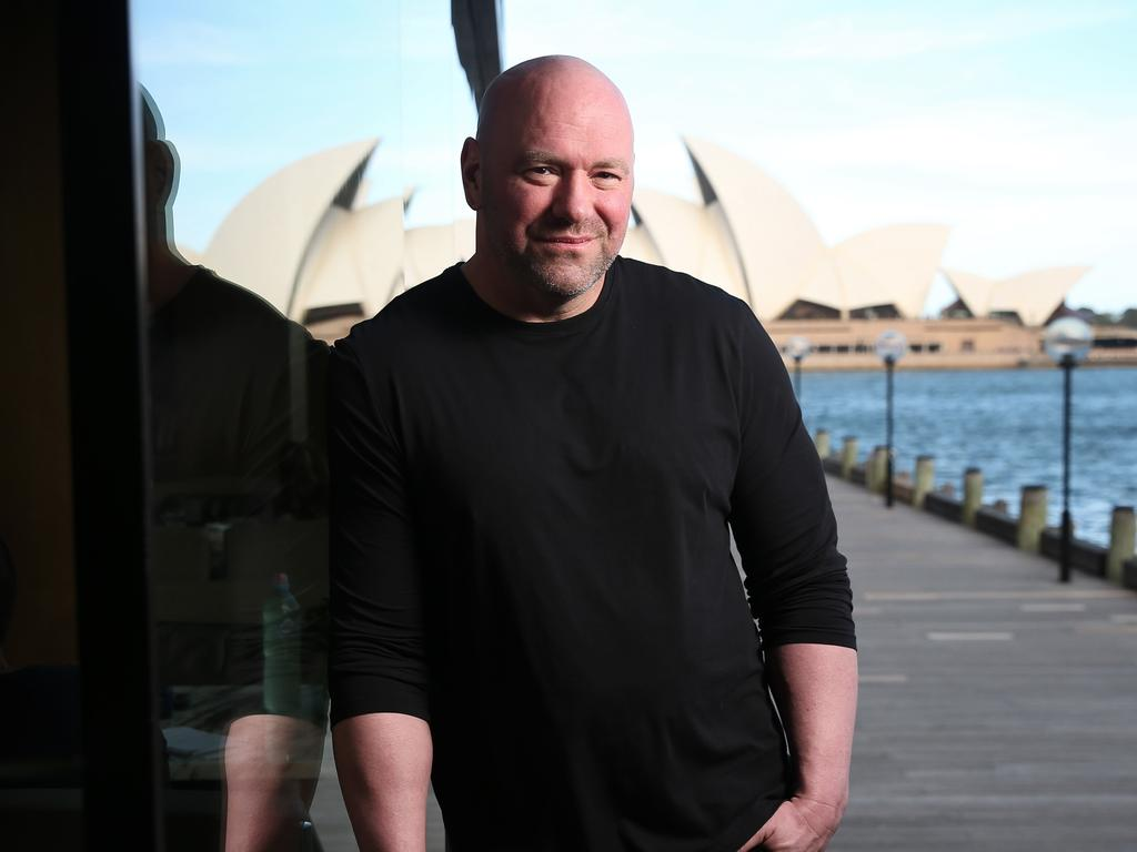 UFC president Dana White was in Sydney to announce UFC 234 in Melbourne in February 2019.