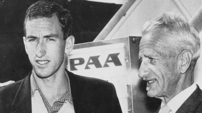 Herb Elliott with his coach Percy Cerutty.