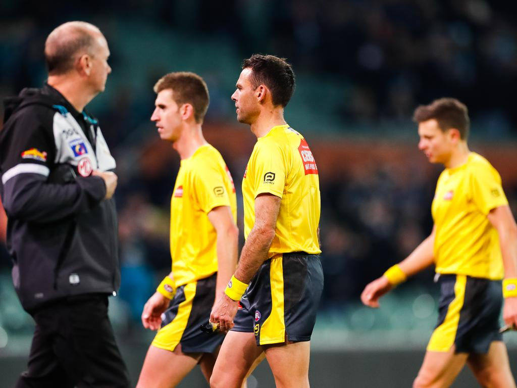 Hinkley didn't want to harp on the umpires.