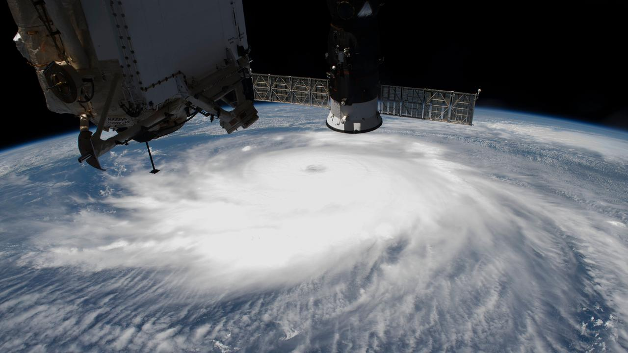 Hurricane Laura on August 26, 2020 off the coast of the US as seen from the International Space Station. The reality TV show winner will spend their time in space on the ISS, with views like this of Earth. Picture: AFP/NASA