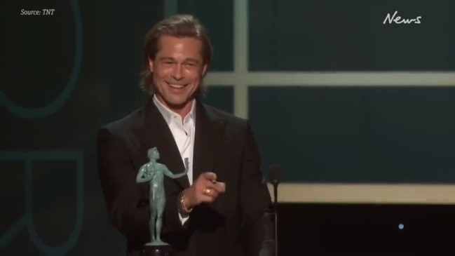 Brad Pitt's hilarious SAG Awards acceptance speech