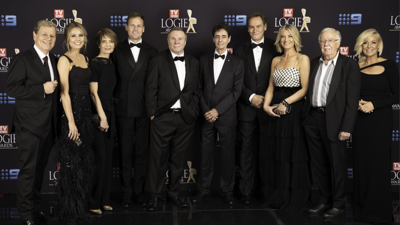 The 60 Minutes team at the Logies this year. Picture: Luke Marsden