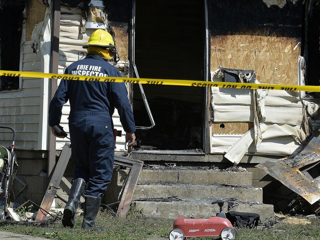 Authorities said the fire victims ranged in ages from 8 months to 7 years. Picture: AP